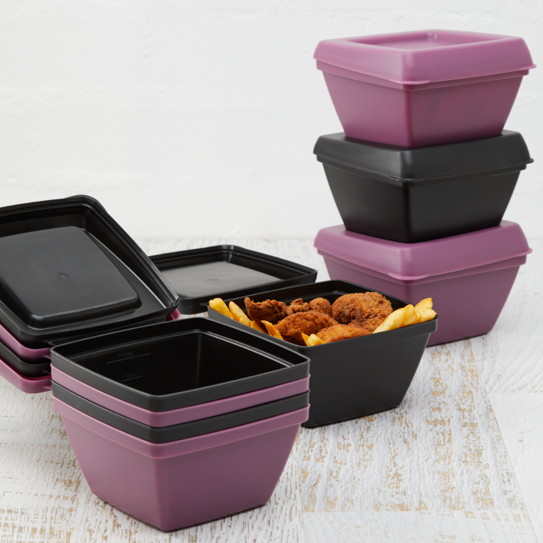 Fried chicken in reusable container that is made in Australia